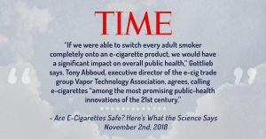 TIME Magazine article on E-Cigarettes quotes VTA Executive Director Tony Abboud.